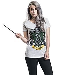 Harry Potter Slytherin Crest T-shirt Femme gris clair chiné