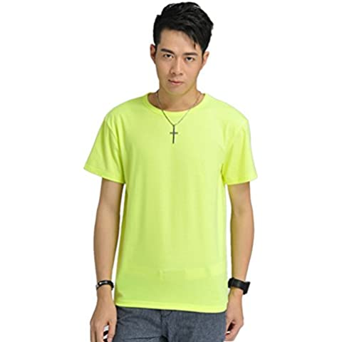 Zhuhaixmy Hot Piante New Men's Round Collar Stretch Cotton Cotone