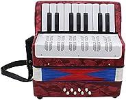 Acordeón musical de 17 teclas de 8 graves para instrumentos musicales educativos simulación de aprendizaje de