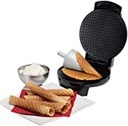 Tidyard Double-Side Non-Stick Crispy Egg Roll Cone Baking Mould Ice Cream Maker Waffles Frying Pan Baked Goods