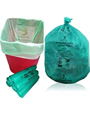 NaturePac Garbage Bags Biodegradable For Kitchen,Office,Medium Size (Green,48cmx56cm,180 Bag)