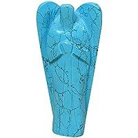 REIKIERA Hand Geschnitzt Tuerkis Stein Angel Pocket Crystal Schutzengel Reiki Healing Figuren Statue mit Geschenk-Box preisvergleich bei billige-tabletten.eu