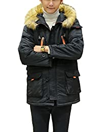 Brinny warm Herren Parka mit Kapuze Wintermantel Funktionsjacke  Übergangsjacke Outdoorjacke Jacke Winterjacke Kapuzenjacke Mantel c923782779