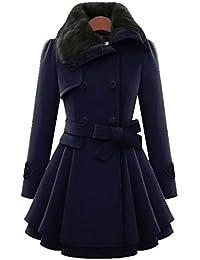 e0be7d564298 Winter Outwear Damen Btruely Warm Slim Mantel Jacke Dick Parka Mantel Lange  (L, Dunkelblau
