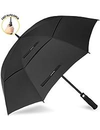 ZOMAKE Paraguas Grande Antiviento, Automático Paraguas de Golf con Doble Cubierta para Mujer Hombre