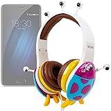 DURAGADGET Auriculares mágicos para niños para smartphone Meizu m3e , M3S , m5 , Pro 6 , Pro 6s / Elephone P9000 , C1 , S7. Colores divertidos. Diseño mariquita alien.