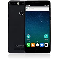 Smartphone Libre con 4000mAh Batería, LEAGOO KIICAA POWER 3G Móviles de 5.0'' HD IPS Android 7.0 (Dual Cámara 5MP + 8MP, 2GB RAM 16GM ROM, MT6580 1.3Ghz Quad Core, Huella Datilar, Dual Sim) (Negro)