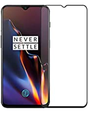 POPIO Tempered Glass for OnePlus 6T / OnePlus 7 (Black) Edge to Edge Full Screen Coverage with easy installation kit