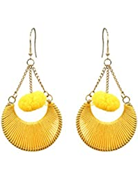 New And Unique Pom Pom Earrings Specialy Handcrafted Designe's In Jewellery By The Indian Handicraft Store.