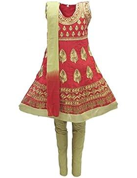 GCS3246 Traje Churidar para carmesí y dorado Indian Bollywood Fancy Dress
