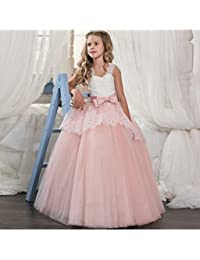 LZH Girls Pageant Embroidery Dress Princess Wedding Party Communion Prom Ball Gown Dresses
