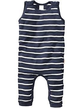 wellyou | Baby-Strampler | Kinder-Strampler | marine-blau weiß gestreift | Strampelanzug geringelt | für Jungen...