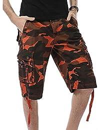023e9d80e5 Pantalones Cortos De Camuflaje Para Hombres Pantalones Cortos De Trabajo En  La Clásico Playa Pantalones Chicos
