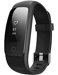 Pulsera Actividad Monitor de Ritmo Cardíaco Pulsera de Fitness Inteligente Salud Perseguidor Actividad Pulsera Podómetro con Previsión Meteorológica Para Android y iOS Teléfonos Inteligentes iPhone 7/iPhone 6,etc