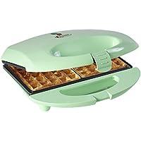 Bestron Gaufrier pour gaufres de Bruxelles avec revêtement antiadhésif, Design rétro, Sweet Dreams, 700 W, Vert menthe
