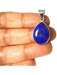Afghanistani pendientes de lapislázuli de plata de ley 925colgante–(llp1512161)