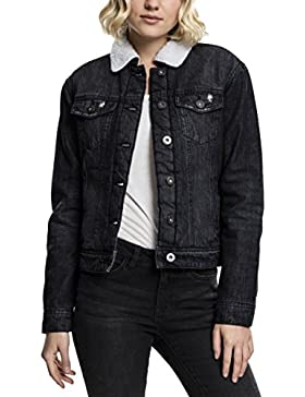 Urban Classics Ladies Sherpa Denim Jacket, Chaqueta para Mujer