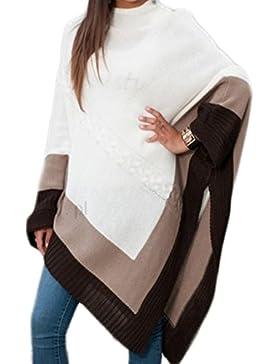 Morefaz Las Mujeres señoras Calientes Poncho de Punto Jumper Sweater Chaqueta Capa Wrap Chal Mfaz Ltd