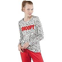 GISELA Pijama para Mujer de Invierno de Snoopy