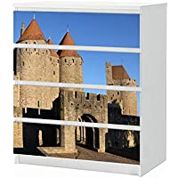 Carcassonne Festung Burg Metall Magnet Souvenir Frankreich redb