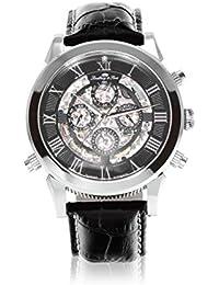 Lindberg&Sons SK14H011 - Reloj para hombres, correa de cuero color negro