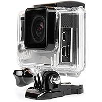 D & F Coque Boîtier Support côté ouvert avec objectif cadre transparent étui de protection Boîte pour GoPro Hero 4 3 + Caméra d'action