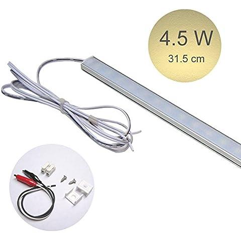 Pack de 3 piezas. baja tensión DC 12V LED luz de tira delgada, 31.5cm - 60.0cm, 4.5W - 8.0W, emisión blanco cálido, lámpara portátil, lámpara que acampa, Stall lámpara, cocina lámpara, gabinete lámpara (lámpara solamente,Transformador es no incluido) (4.5)