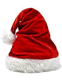 jowiha® Luxus Weihnachtsmütze aus Samt Lady Santa One Size