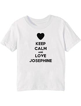 Keep Calm And Love Josephine Bambini Unisex Ragazzi Ragazze T-Shirt Maglietta Bianco Maniche Corte Tutti Dimensioni...