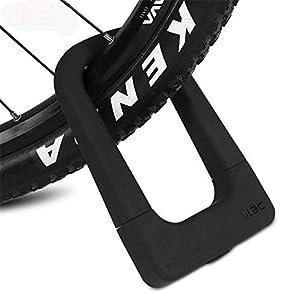 Gbike Bicicleta de Seguridad U Lock Acero MTB Carretera Bicicleta Bicicleta Cable Cerradura antirrobo Juego de Bloqueo de Servicio Pesado Ciclismo Motocicleta U-Lock con Cable,Black