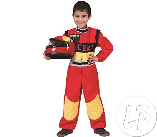 Racer Rennfahrer Kostüm Kinder Gr. 152 (Rennfahrer Kostüm Kinder)