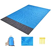 FUMENTON Beach Blanket, Picnic Blankets with Waterproof Large 200 x 210cm, Portable for Beach, Picnic, Travel