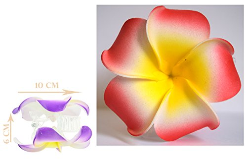 Große Hummerzange Haarschmuck Blumen von Frangipani–Exotischen Hawai–fc-70662