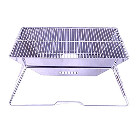 Lengthened Thickened Stainless Steel Outdoor Barbecue Pits Wood Stoves Convenient 歀 Foldable