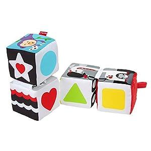 Fisher-Price Bloques gira y mira, juguete de aprendizaje para bebé +3 meses (Mattel GFC37)