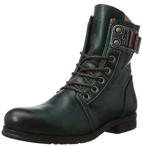 FLY London Stay, Damen Kalt gefüttert Biker Boots Kurzschaft Stiefel, Grün (Petrol 006), 36 EU