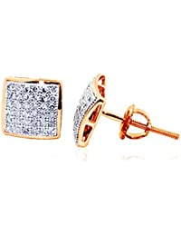 Amazon Fr Diamant Boucles D Oreilles Homme Bijoux