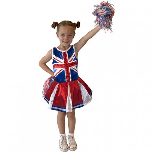 Christys 'Dress Up groãŸbritannien Cheerleader-Kostüm (3-5 Jahre),
