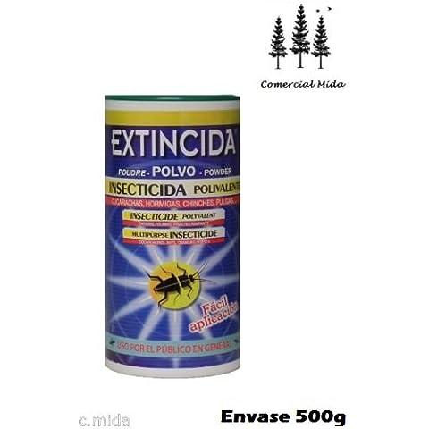 EXTINCIDA POLVO 500g jardinería doméstica cucarachas, chinches, pulgas, hormigas...