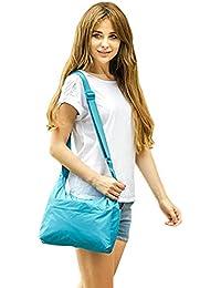 Listen2U a prueba de agua con sol o lluvia Anfibio taleguilla bolsos de compras bolso crossbody bolsa ecológica (39 * 27 * 7 cm)