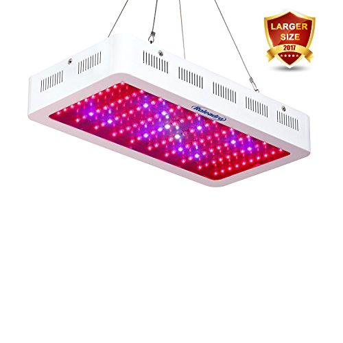 Roleadro LED Cultivo 300w Lampara Cultivo Talla Grande,Focos CultivoLuces LED Grow con La luz UV del IR para Armario Cultivo Interior