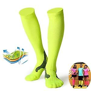 TMDFight Sports Laufsocken Männer Und Frauen Outdoor Lange Schlauch Professionelle Reiten Kompression Socken Off-Road Socken Dekompression Kalb