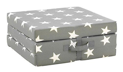 Klappmatratze Faltmatratze Reisebett SAMBA 8 | Grau | Sterne | Polyester | Baumwolle | 70x190 cm - Baumwoll-polyester-matratze