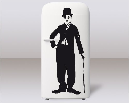 Adesivi Creativi adesivo sticker murale Charlie Chaplin Dimensioni 46 X 110 cm   wall stickers   adesivi da parete   Decorazione murale   decalcomania