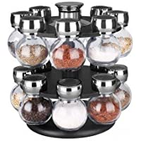 Hds Trading SR44072 16 Piece - Revolving Spice Rack by