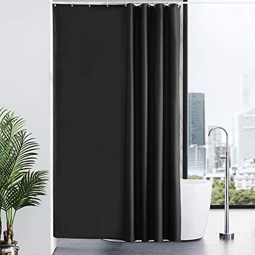 New Power Cortinas Baño,Negro Impermeable al Moho Cuarto de Baño Ult