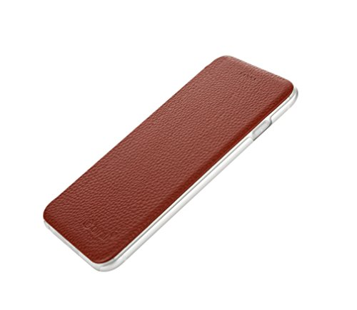 Original binli en cuir véritable Iphone 6Plus Coque avec dos en aluminium Couverture rigide à rabat Back Case TPU–stylé de OKCS en noir iPhone 6 Plus, 6s Plus transparent Blanc - marron
