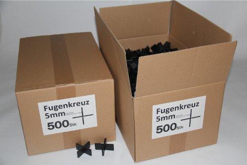 Fugenkreuze 5mm, Bauhöhe 20mm, 500 Stück im Karton