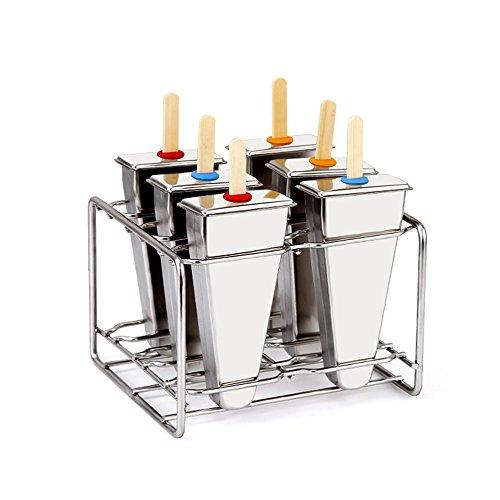 Baffect® Edelstahl Popsicle Form mit Stick Holder Eiscreme Form von 6 (Dreieck)