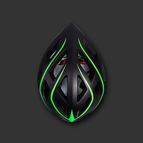 Dark Green-motorrad-helme (Qarape Outdoor-Fahrradhelm Multi-Use-Zyklus Pneumatische Helm Außerhalb Sport Atmungs Komfort Leicht Mountain Bike Einstellbare Helm Motorrad Sicherheit Schutzhelm Geeignet für Radfahren Skating Roller Outdoor Sports ( Color : Dark green ))